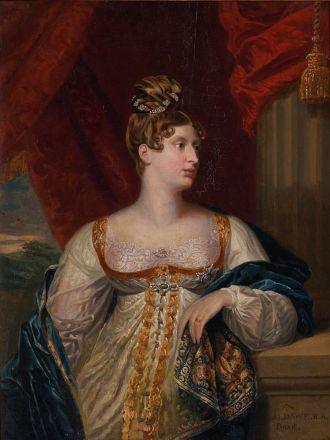 Portrait von Princess Charlotte of Wales um 1817 von George Dawe