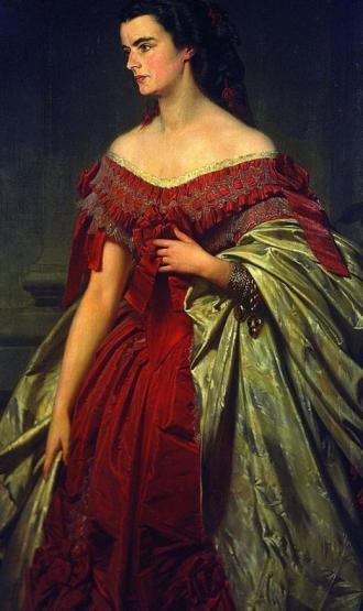 Portrait von Helene, Erbprinzessin von Thurn und Taxis (geborene in Bayern) von Erich Correns aus dem Jahr 1859