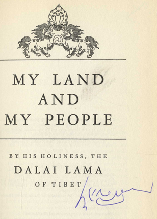 My Land And My People - 1st Edition/1st Printing | Dalai Lama Of Tibet ...