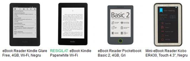 eBook Readere pentru toate buzunarele. Preturi pornind de la doar 200 de lei. Vezi aici toate produsele.