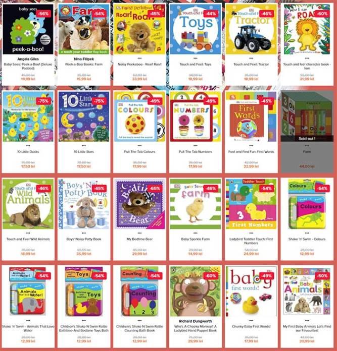 cărticele în engleză pentru copii