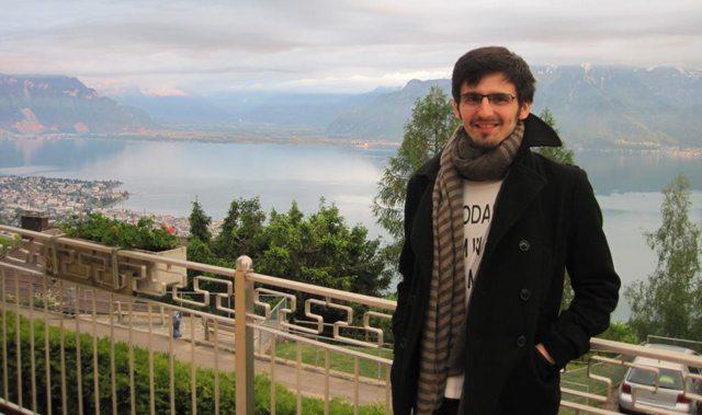 Foto: prima zi la Centrul de Înalte Studii Tibetane, Elveţia, vedere spre lacul Geneva.