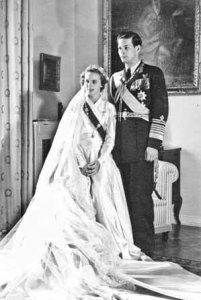 Regina Ana si Regele Mihai la nunta