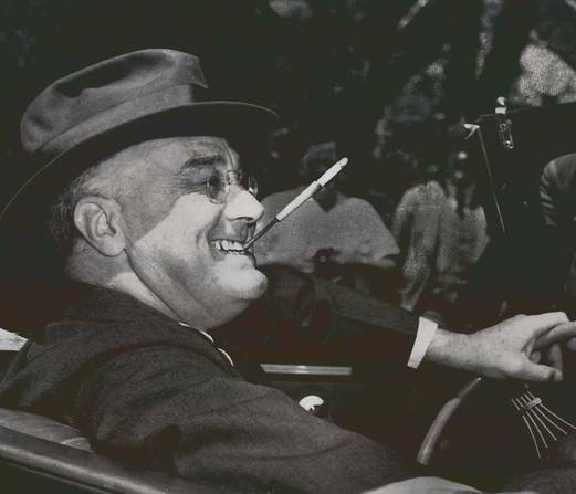 FDR smoking a cigarette