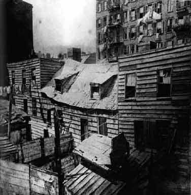 Jacob Riis photo -- New York tenements