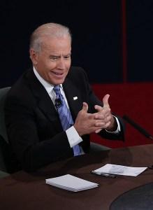 Biden's face