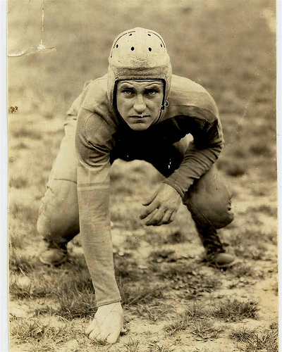 Old-time football player