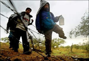 Illegal immigrants crossing into US