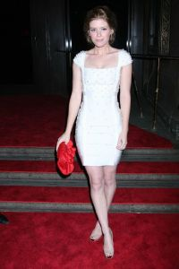 Kata Mara in white Herve Leger dress