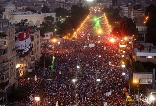 Egypt protest in Tahir Square