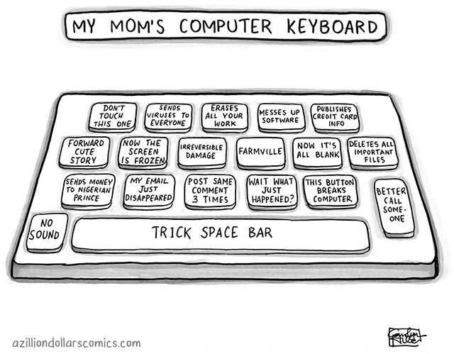 Mom's keyboard