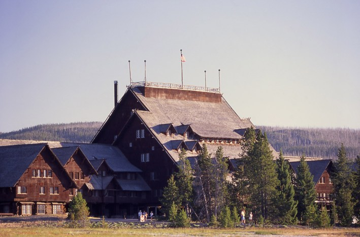 The Old Faithful Inn, where senior tourists were held prisoner under armed guard