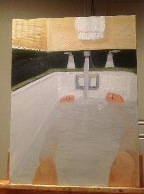 Bush bathtub painting