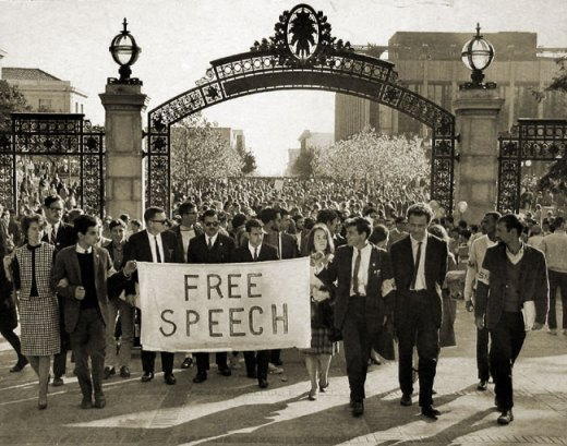 """One wonders how many of the jubilant Berkeley students who bought into 1964's Free Speech Movement would be shocked by today's censorship.  My guess is """"none.""""  It was always about Leftist re-education."""
