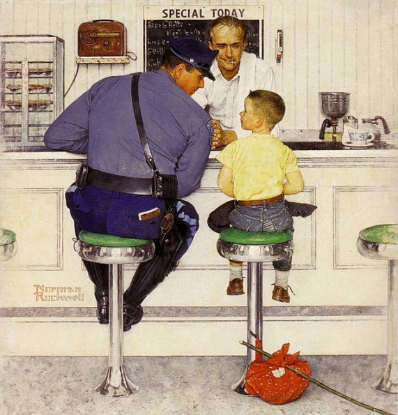 Norman Rockwell's runaway