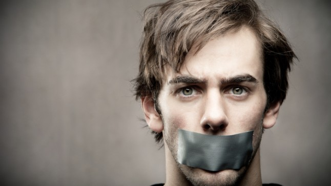 Image result for people with mouth taped shut