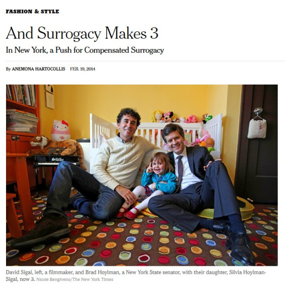 Gay parenting as a fashion statement