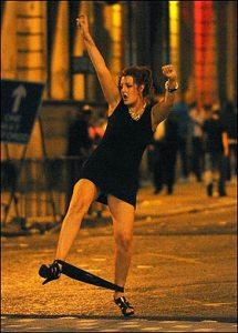Drunk woman in Cardiff