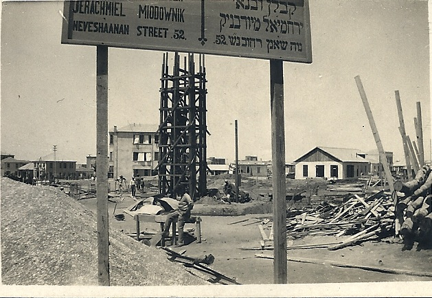Neve Shaanan Street under construction, Tel Aviv, 1920s