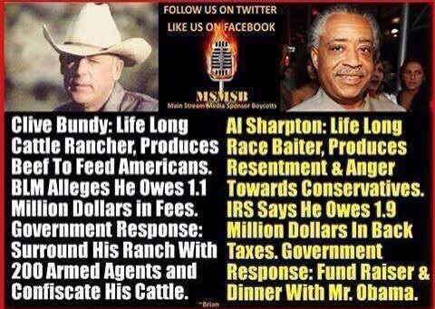compare Bundy and Sharpton
