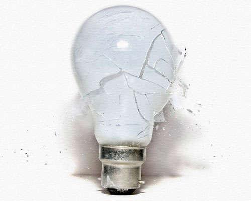 Broke Mercury Light Bulb