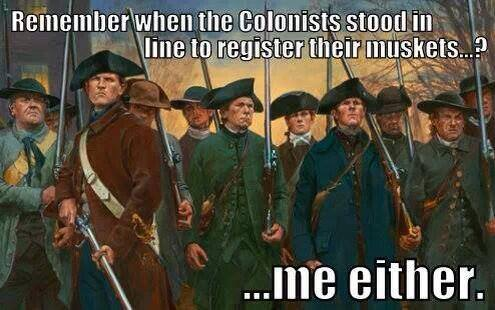 Colonists did not register arms