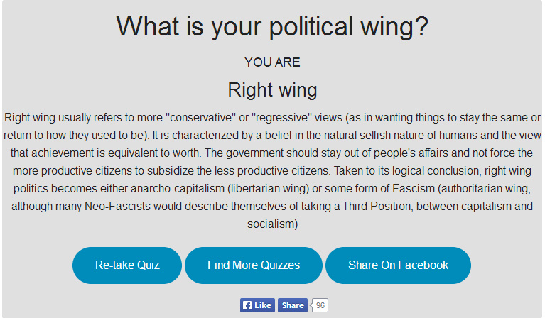 Quizify maligns conservatives