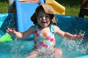 Toddler in pool