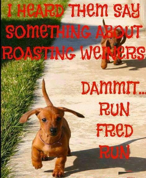 Roasting weiners