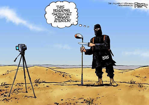 A beheading for Obama's attention