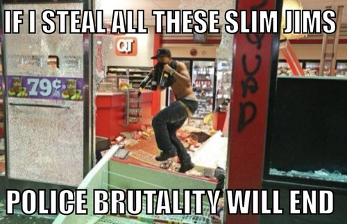 Police brutality and Slim Jims