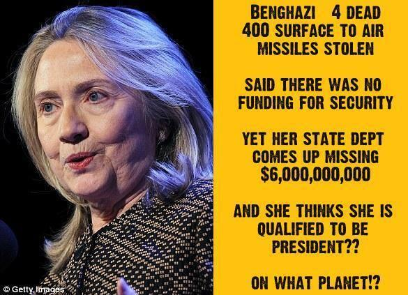 Hillary's dismal Sec of State record