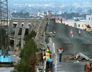 Loma Prieta damage in 1989