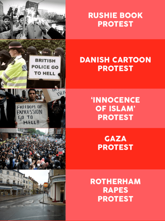 Missing Muslim protests