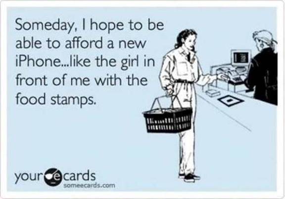 New iPhone and food stamps
