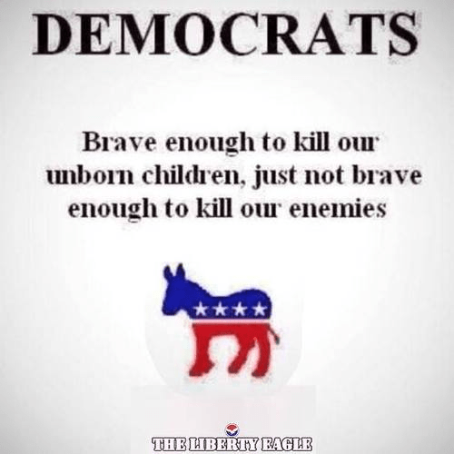 The Democrats are brave enough to kill babies