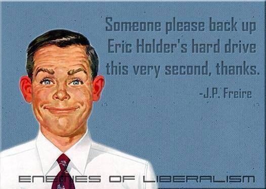 Back up Holder's hard drive