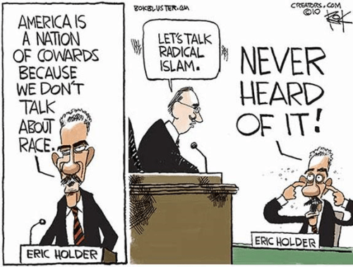 Eric Holder won't talk about radical Islam