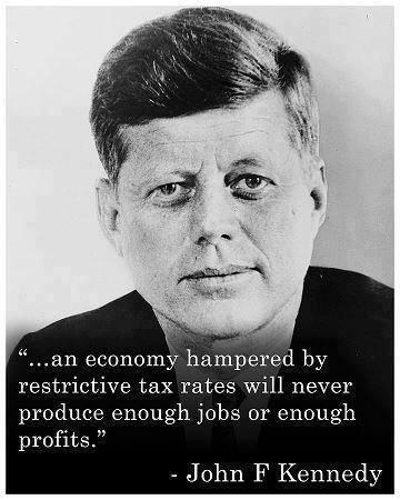 JFK opposed high taxes