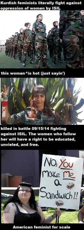 Kurdish v American feminists