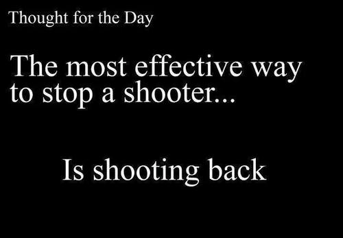Most effective way to stop a shooter is to shoot back