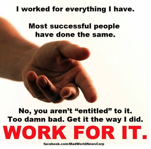 Successful people versus entitlement