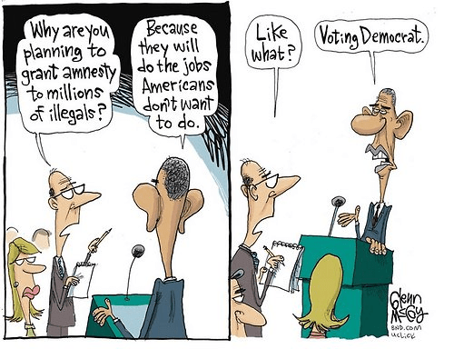 Illegal aliens do the job Americans won't do - vote Democrat