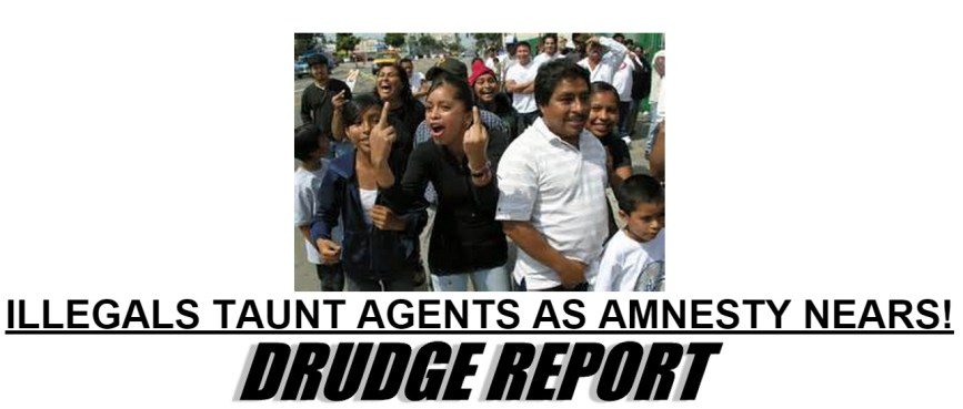 Illegals taunt immigration officers as amnesty nears