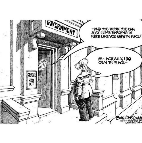 Taxpayer owns the government