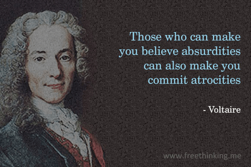 Voltaire on committing atrocities
