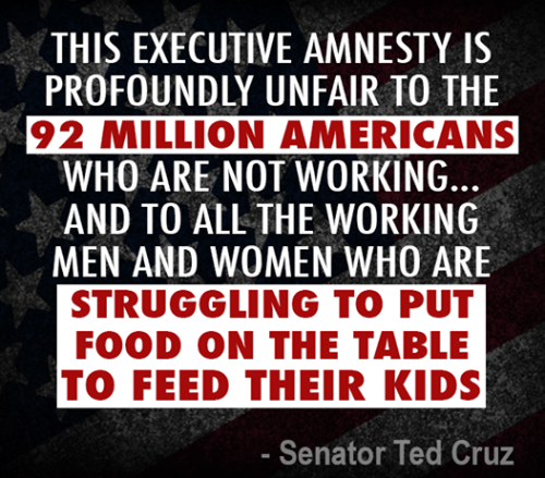 Cruz on unfairness of executive amnesty to American unemployed