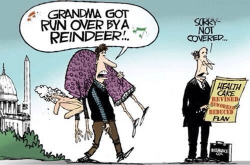 Grandma got run over by a reindeer but there's no insurance