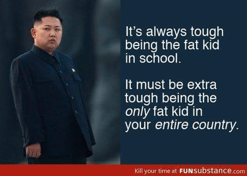 North Korea only fat kid in country