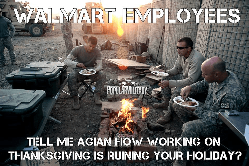 WalMart employees complain about working on holidays